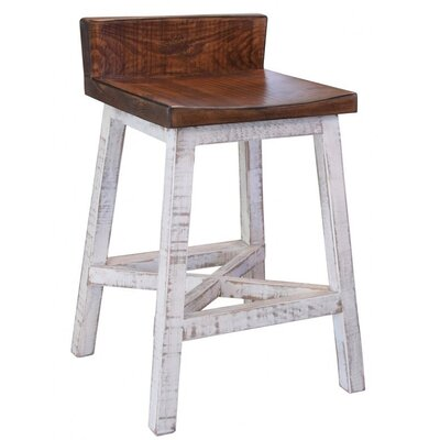 "Wein 24"" Bar Stool Frame Color: White"