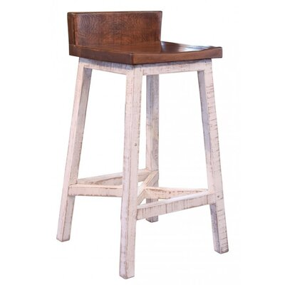 "Wein 30"" Bar Stool Frame Color: White"
