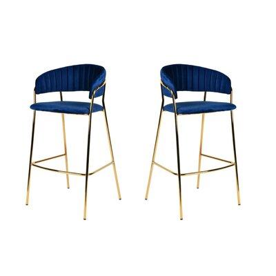 "Albion 30"" Bar Stool Upholstery: Blue"