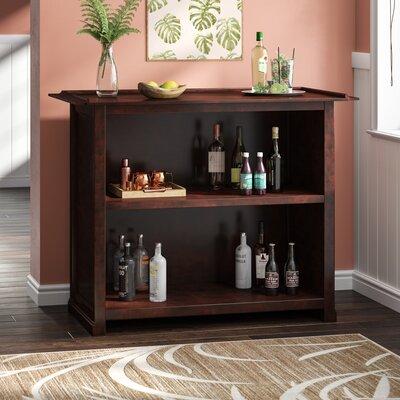 Meredith Bar with Wine Storage Color: Caribbean Rum, Door Type: None