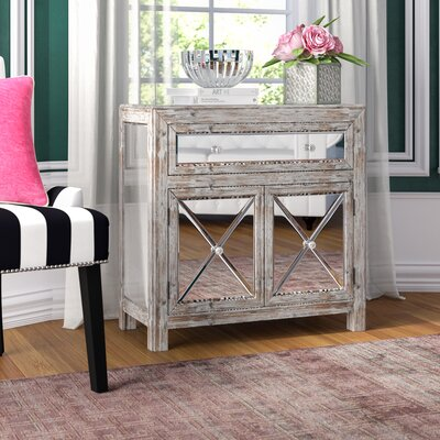 Rothman Mirrored Cabinet Color: Weathered White