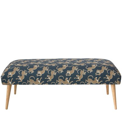 Addilynn Leopard Upholstered Bench