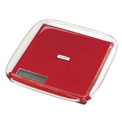 Latina Acrylic Electronic Digital Kitchen Scale Color: Red