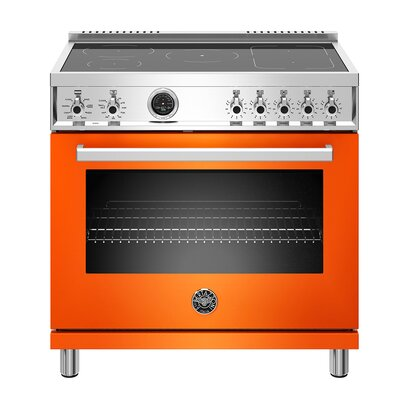 "Professional Series 36"" Free-standing Electric Range Color: Orange"