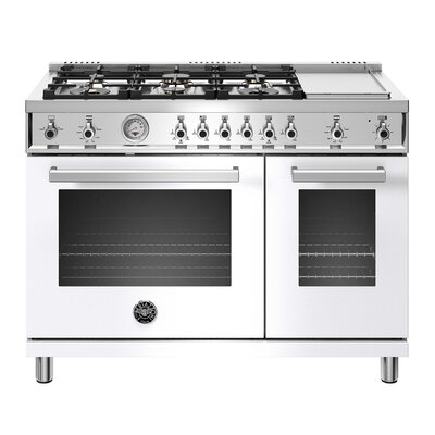"""Professional Series 48"""" Free-standing Gas Range Color: White"""