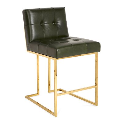 Goldfinger Counter Stool - Luggage Verde
