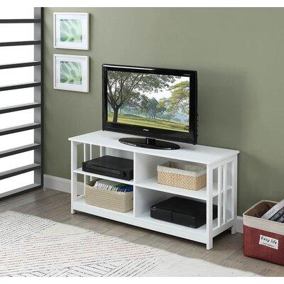 "Cade 47"" TV Stand Color: White"
