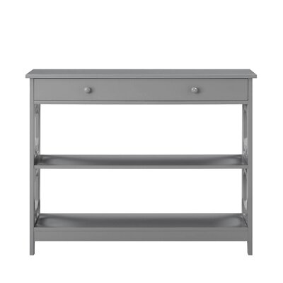 Buffavento Console Table Color: Gray