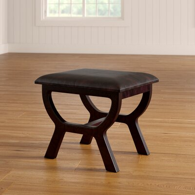 Youngston Stool with Wood Leg Color: Brown