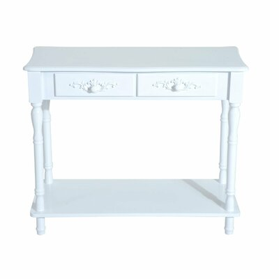 Jermaine Two Drawer Wooden Entryway Console Table