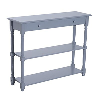 Adonis 3 Tier Console Table Color: Gray