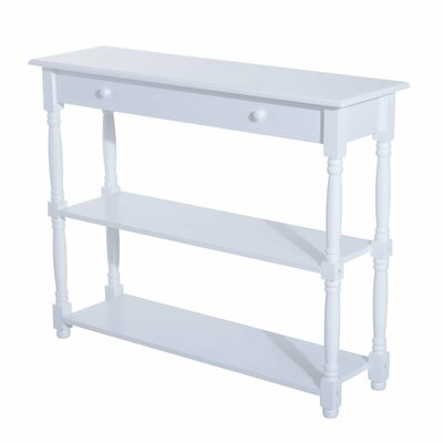 Adonis 3 Tier Console Table Color: White