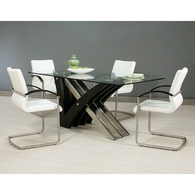 Boykin 5 Piece Dining Set Table Base Color: Wenge