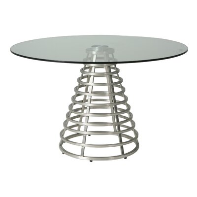 Candlewood Dining Table Base Color: Stainless Steel