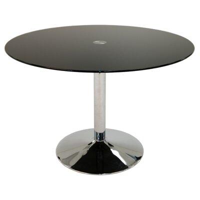 Jensen Dining Table Top Color: Black Glass
