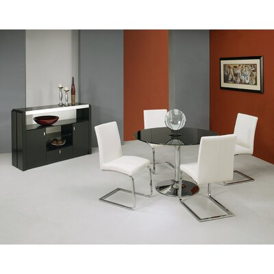 Vicini 5 Piece Dining Set Table Top Color: Black