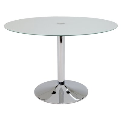 Jensen Dining Table Top Color: Frosted Glass