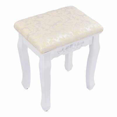 Cadence Vanity Stool Frame Color: White