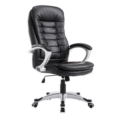 Noor High Back Office Chair Color: Black