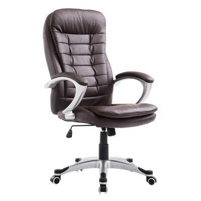 Noor High Back Office Chair Color: Brown
