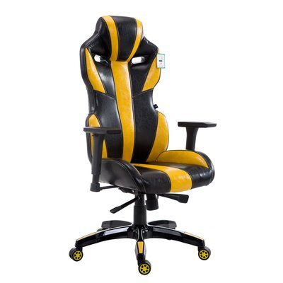 Divisadero High Back Office Chair Color: Black/Yellow