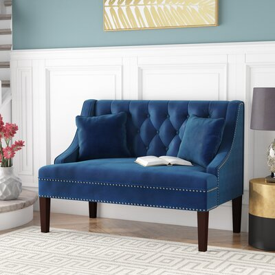 Beaulah Upholstered Bench Upholstery Color: Navy