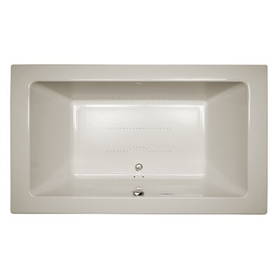 "Sia Chroma Right-Hand 66"" L x 36"" W Drop In Pure Air Bathtub Finish: Oyster"
