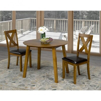 Flood 3 Piece Drop Leaf Breakfast Nook Dining Set Color: Walnut