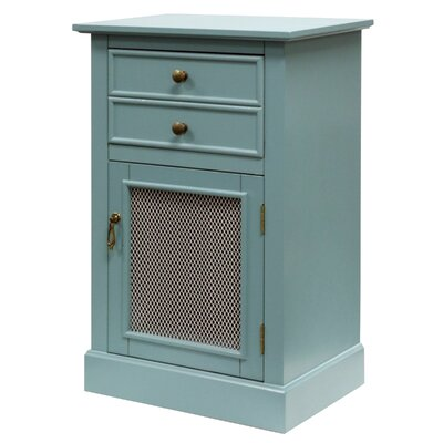 Lachlan 1 Door Accent Cabinet Color: Blue