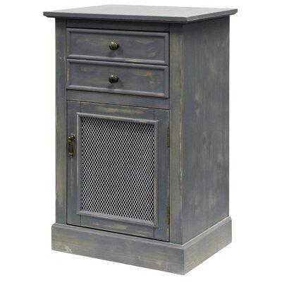 Lachlan 1 Door Accent Cabinet Color: Rustic Gray