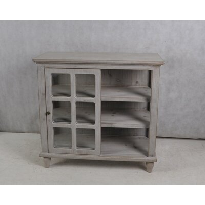 Archer Sliding 2 Door Accent Cabinet Color: Driftwood Gray