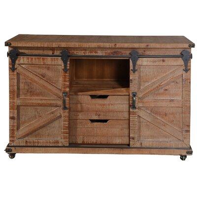 Magnus 2 Door Accent Cabinet Color: Natural Brown