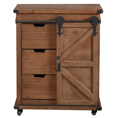 Magnus 1 Door Accent Cabinet Color: Natural Brown