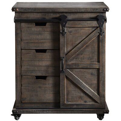 Magnus 1 Door Accent Cabinet Color: Driftwood Gray