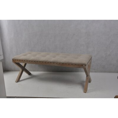 Isaiah Cushion Top Wood Bench