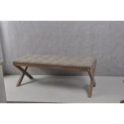Isaiah Cushion Top Wood Bench