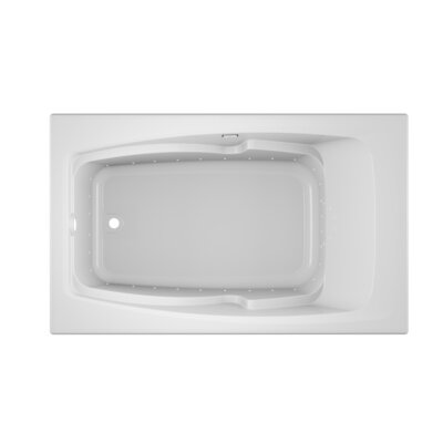 "Cetra Pure Left-Hand 60"" x 36"" Drop in Air Bathtub Finish: White"