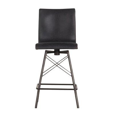 """Tiana 29""""Swivel Bar Stool Upholstery: Black"""