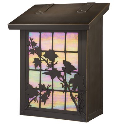 English Ivy Wall Mounted Mailbox Finish: Architectural Bronze, Glass Color: Gold Iridescent