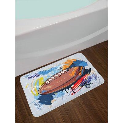 Multicolor Sports Bath Rug
