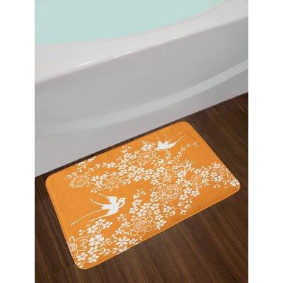 Marigold White Japanese Bath Rug