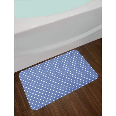 Yellow Bath Rug Bath Rug Color: Blue