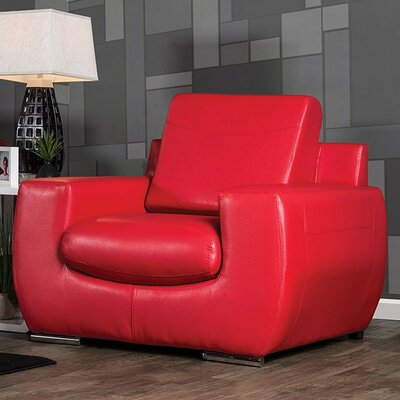 Aine Club Chair Upholstery: Red