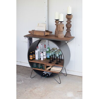 Casper Round Metal Console Table