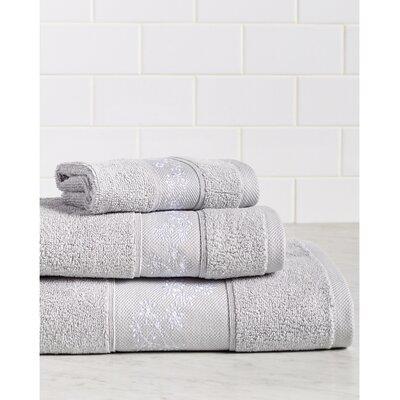 Fountain Premium 600 GSM 3 Piece Turkish Cotton Towel Set Color: Gray/White