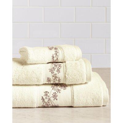 Fountain Premium 600 GSM 3 Piece Turkish Cotton Towel Set Color: Ivory/Sand