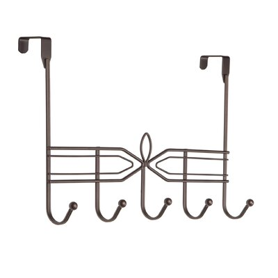 Sexton Decorative over the Door 5 Hook Metal Wall Mounted Coat Rack