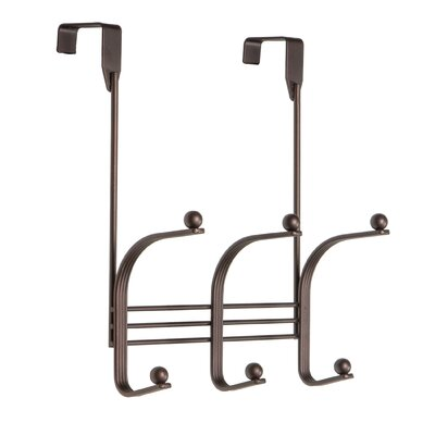 Franco Decorative over the Door 3 Hook Metal Wall Mounted Coat Rack