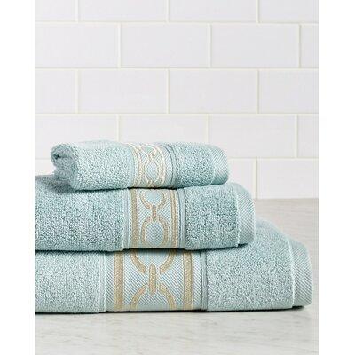 Berkeley Links Premium 600 GSM 3 Piece Turkish Cotton Towel Set Color: Blue/Champagne