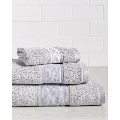 Berkeley Links Premium 600 GSM 3 Piece Turkish Cotton Towel Set Color: Gray/White